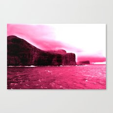 red water off the faroes. Canvas Print