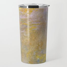Monet, Water-Lilies (yellow) after 1920-1926 Travel Mug