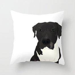 Atticus the Pit Bull Throw Pillow