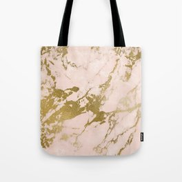 Champagne Blush Marble Tote Bag