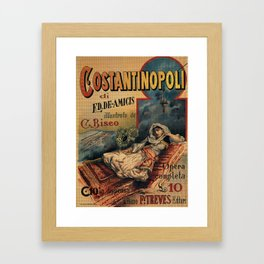 Constantinople Italian vintage book advertisement Framed Art Print