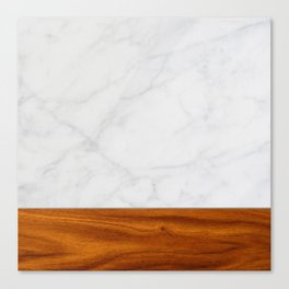 Marble and Wood 2 Canvas Print
