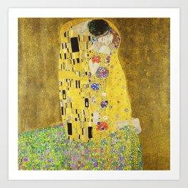 The Kiss by Gustav Klimt, 1909 Art Print