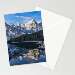 Reflections in the morning at lake Moraine Stationery Cards