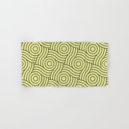Circle Swirl Pattern VA Lime Green - Lime Mousse - Bright Cactus Green - Celery Hand & Bath Towel