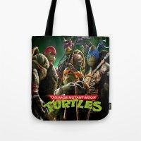 teenage mutant ninja turtles Tote Bags featuring  teenage mutant ninja turtles by giftstore2u