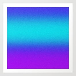 Re-Created Color Field No. 9 by Robert S. Lee Art Print