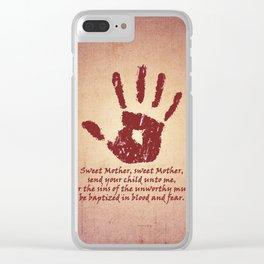 Dark Brotherhood Clear iPhone Case