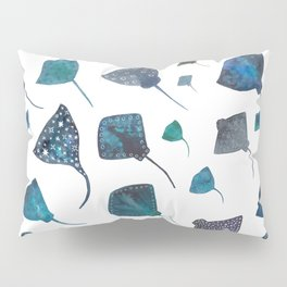 Stingray and Manta Ray Starry Ocean Pattern Pillow Sham