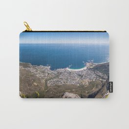 Panoramic view of Camps Bay from Table Mountain in Cape Town, South Africa Carry-All Pouch
