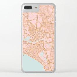Melbourne map, Australia Clear iPhone Case