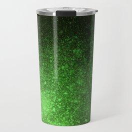 Green and Black Spray Paint Splatter Travel Mug
