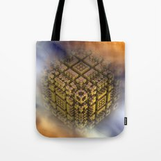 the floating cube Tote Bag