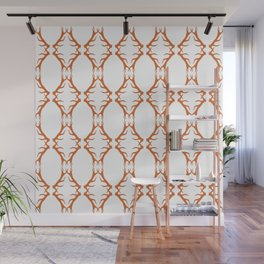 Modern Antler: Orange Wall Mural
