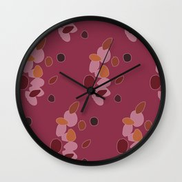 Echinacea Flowing Beans Wall Clock