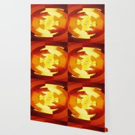 Amber Oval Wallpaper