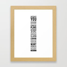 Jeremiah 29:10-14 Framed Art Print