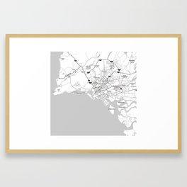 Minimalist Modern Map of Karachi, Pakistan 2 Framed Art Print