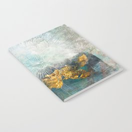 Lapis - Contemporary Abstract Textured Floral Notebook