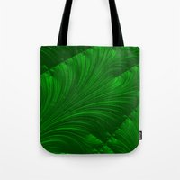 renaissance Tote Bags featuring Renaissance Green by Charma Rose