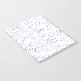 Monstera (White Glow) - Lavender Notebook