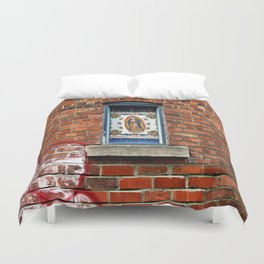 Our Lady of the Window  Duvet Cover