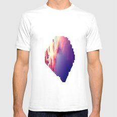 Cloudscape VII MEDIUM White Mens Fitted Tee