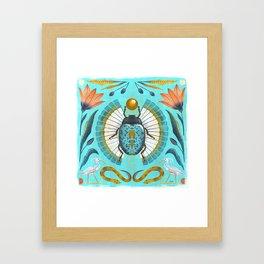 Egyptian Scarab Framed Art Print
