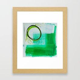Green O Framed Art Print