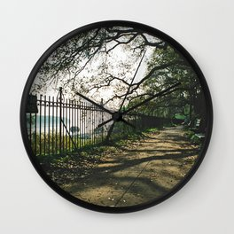 Color - Upper River Street Savannah Wall Clock