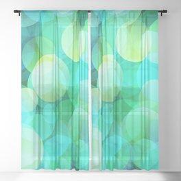 Green Bubble Sheer Curtain