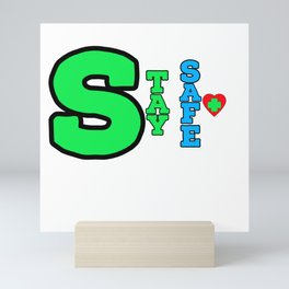 be healthy Mini Art Print
