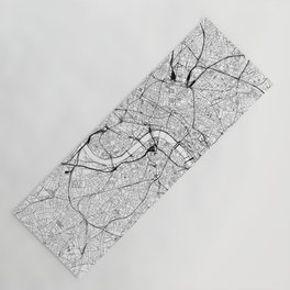 London White Map Yoga Mat