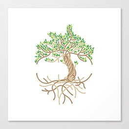 Rope Tree of Life. Rope Dojo 2017 white background Canvas Print