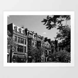 Along the City Streets Art Print