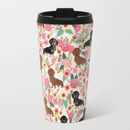 Dachshund florals pattern cute dog gifts by pet friendly dog breeds Travel Mug