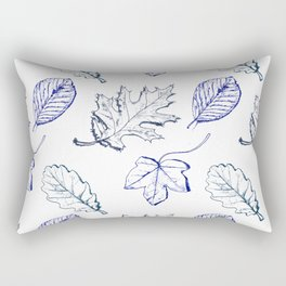 Leaves (navy) Rectangular Pillow