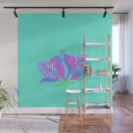 Plants and flowers  happy vibes palms Wall Mural