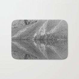 Silver Landscape At Lake Bohinj Bath Mat