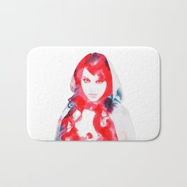 little red Bath Mat