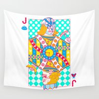 "shit Wall Tapestries featuring Jack Shit ""LOST TIME"" by John Tibbott"