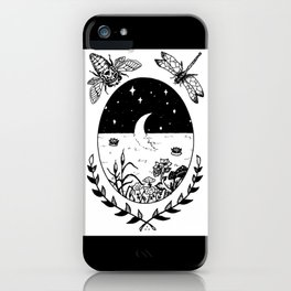 Moon River Marsh Illustration iPhone Case