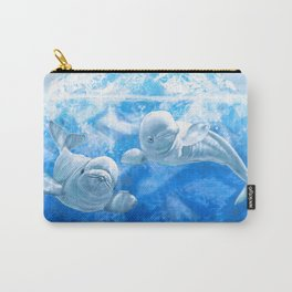 Belugas Carry-All Pouch