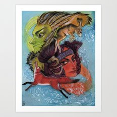 East Wind and West Wind Art Print