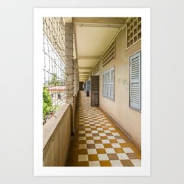 S21 Building C Walkway - Khmer Rouge, Cambodia Art Print