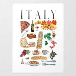 Italy Travel Art Print