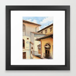 Palazzo Vecchio, from within Framed Art Print