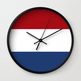 The Netherlands Flag / The Dutch Flag Wall Clock