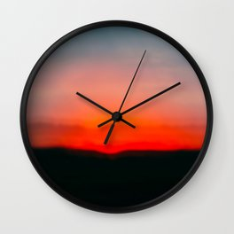 Red Sunset Sky, Dusk Bokeh, Abstract Sky, Sun Set, Sun Rise, Summer Sky, Abstract Painting, Wall Art Wall Clock