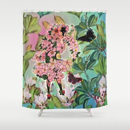 Vintage Flower Fairy Shower Curtain